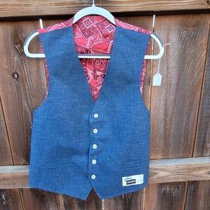 NEW Vintage 70s the Gallery Haggar Denim Vest 44